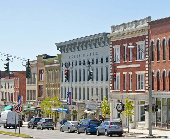 A street photo of downtown Canandaigua